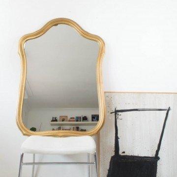 Espejo isabelino dorado envejecido