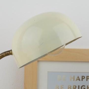 Pequeña lámpara flexo en blanco hueso