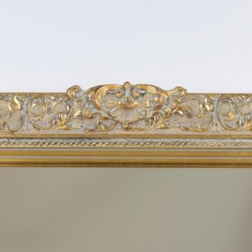 Espejo rectangular dorado