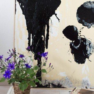 Palabras perdidas, pintura abstracta original de Cèlia Izquierdo