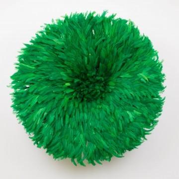 Juju hat o sombrero Bamileke, verde esmeralda grande