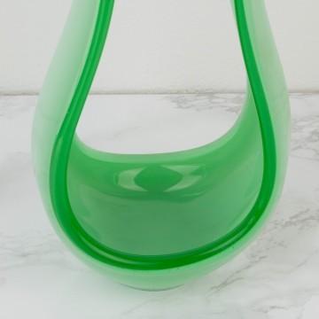 Centro de cristal opalino de Murano verde