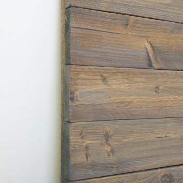 Cabecero de madera rústica acabado envejecido gris