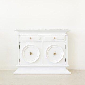 Mueble recibidor con sobre de mármol