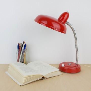 Lámpara flexo rojo