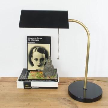 Lámpara francesa en negro y dorado