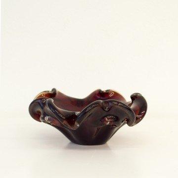 Centro de mesa de cristal de Murano, granate