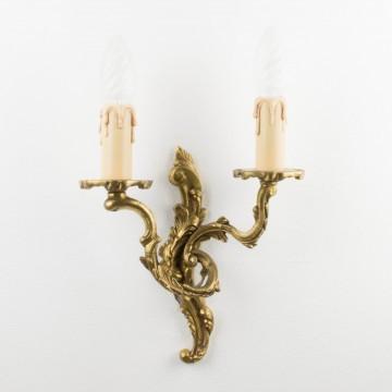Antiguo aplique francés de bronce