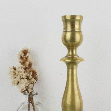 Candelero francés de metal dorado s. XIX