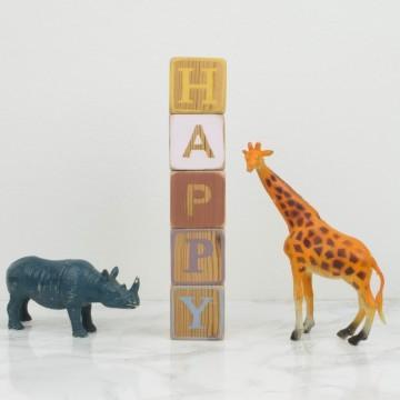 Bloques de madera HAPPY