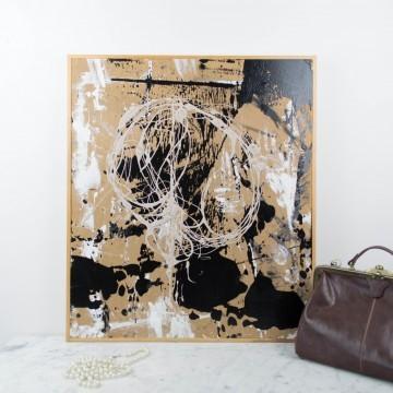 Expresión compleja, pintura abstracta de Cèlia Izquierdo