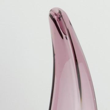 Centro de mesa de cristal de Murano lila grande