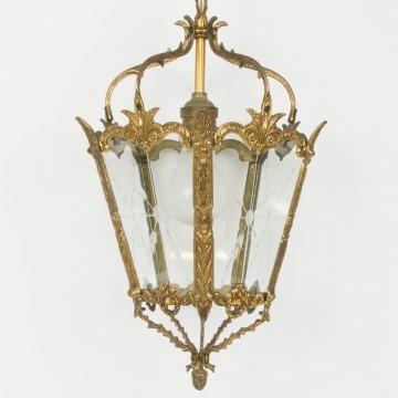 Farol francés de bronce