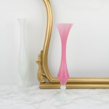 Jarrón opalino francés rosa grande