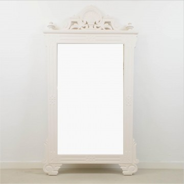 Gran espejo blanco, años 40-50