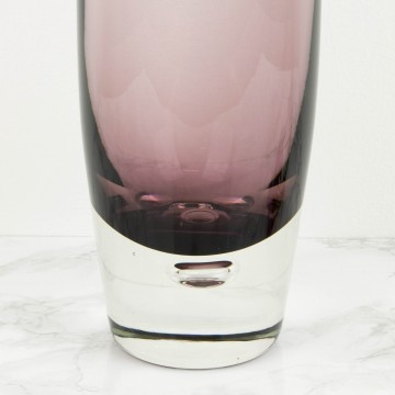 Jarrón sueco de cristal lila