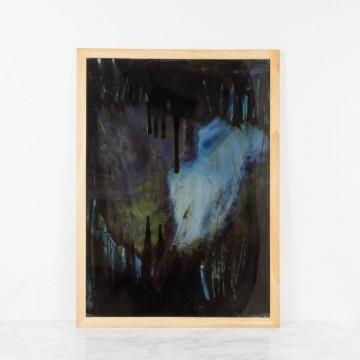Viaje a las tinieblas, pintura abstracta original de Cèlia Izquierdo