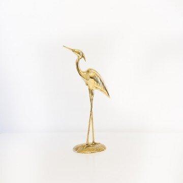Garza, figura de bronce