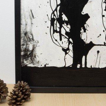 Oscura presencia, 2009, pintura abstracta