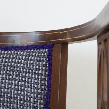 Canapé de caoba de 1900-1920