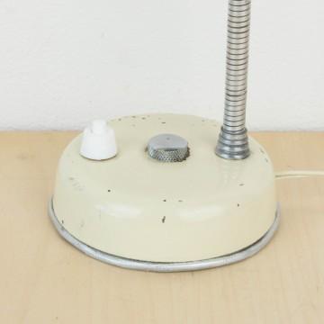 Pequeña lámpara flexo blanco roto