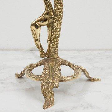 Lámpara de bronce con figura de jirafa
