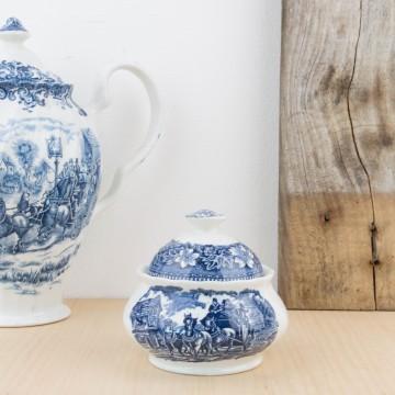 Azucarero antiguo inglés de porcelana