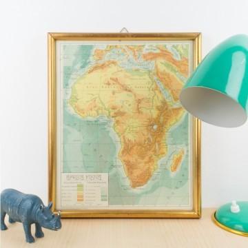Mapa de África físico
