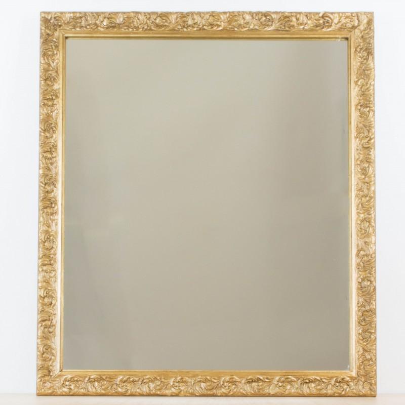 Espejo dorado a partir de antiguo marco   Espejos   Objetos y decoración