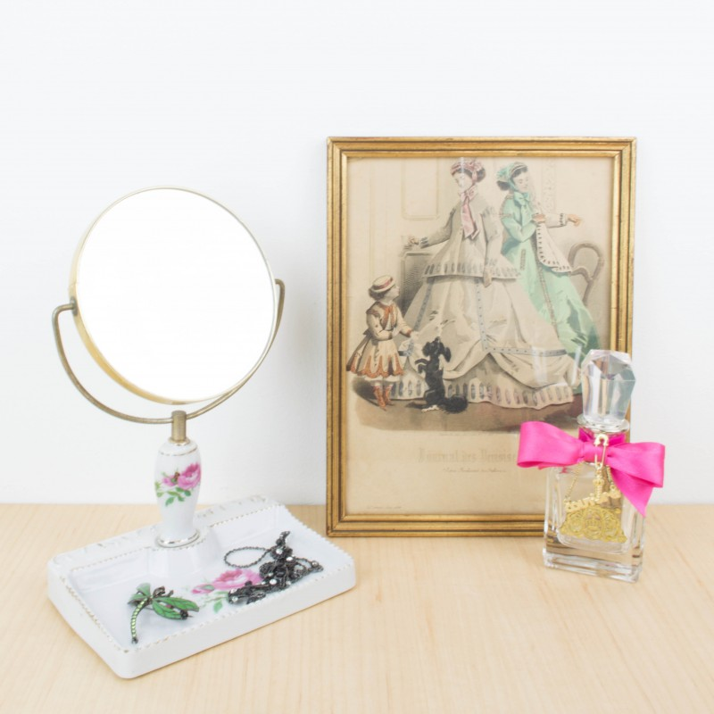 Peque o espejo de tocador japon s espejos objetos y - Espejos pequenos ...