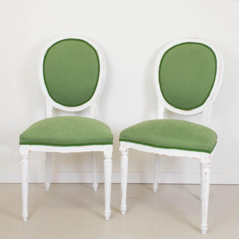 Pareja de sillas francesas estilo lu s xvi sillas muebles - Sillas estilo luis xvi ...