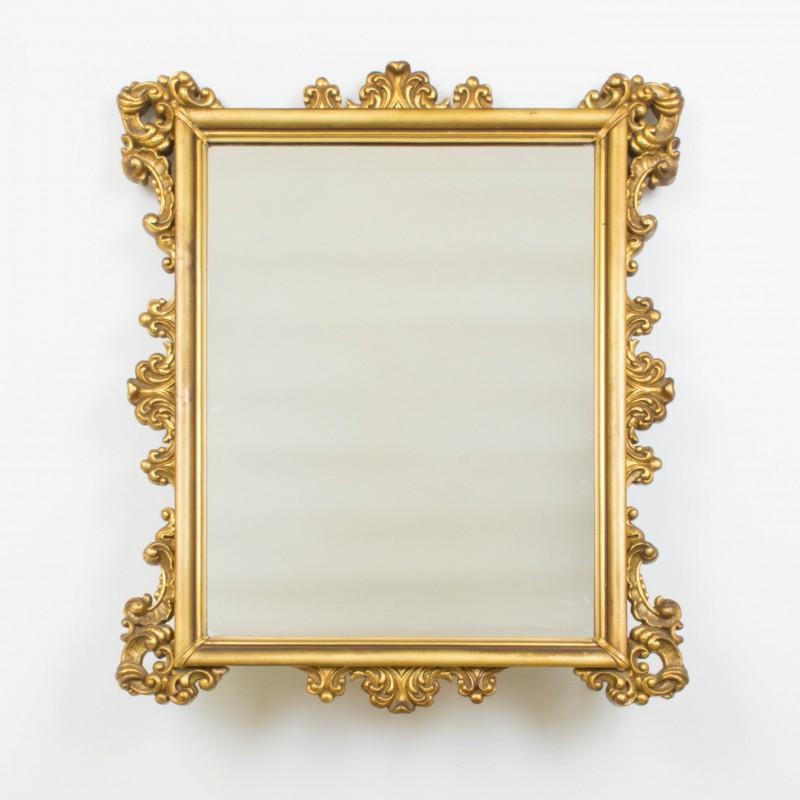 Espejo dorado rectangular espejos objetos y decoraci n for Espejo dorado