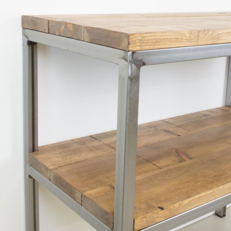 Mueble auxiliar de hierro y madera auxiliar muebles - Muebles auxiliares merkamueble ...