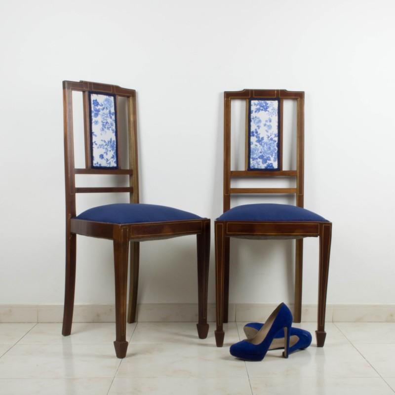 Pareja de sillas de caoba de 1900-1920 | Sillas | Muebles